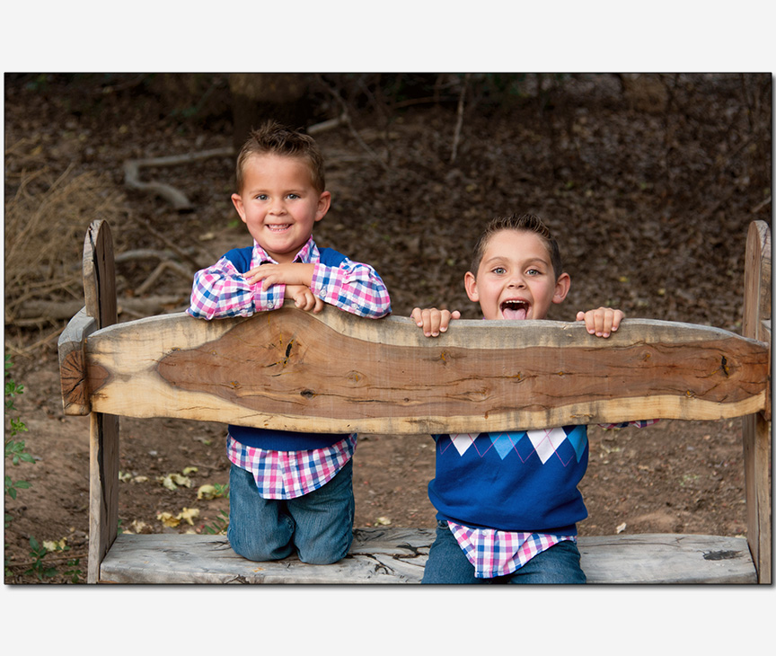 two young brothers being goofy
