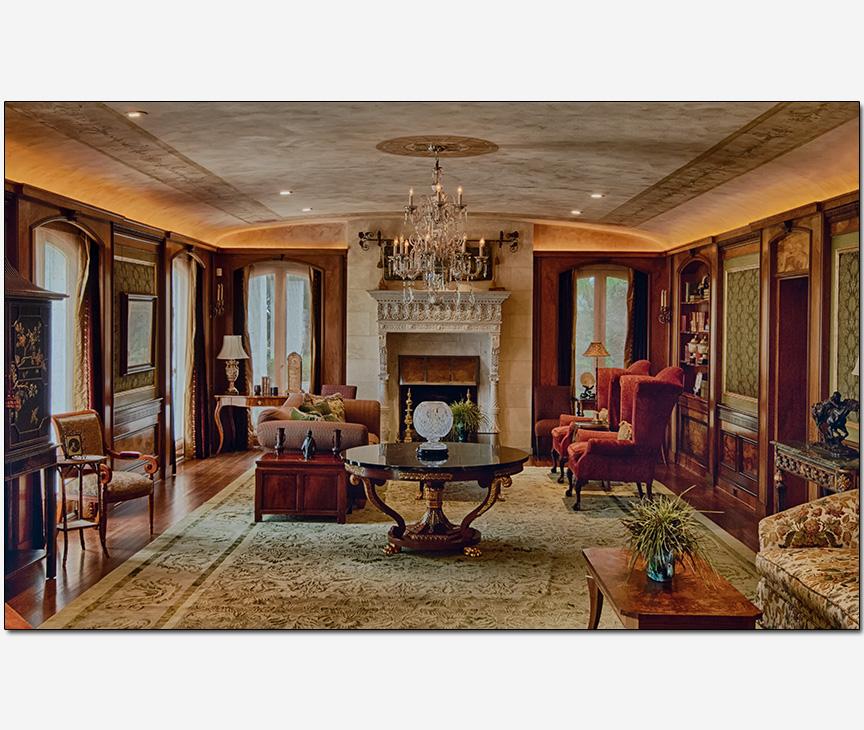 HDR photography elegant mansion interior