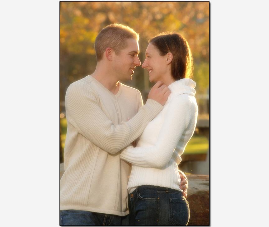 on-location romantic engagement session