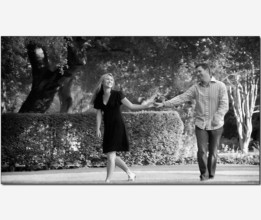 fun playful couple engagement session photos