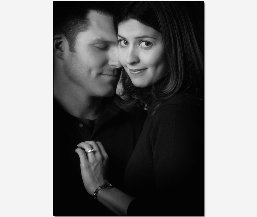 tender romantic engagement session photos